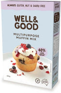 Well And Good Multi Purpose Muffin Mix (Red Sugar) G/F 400g-Health Tree Australia