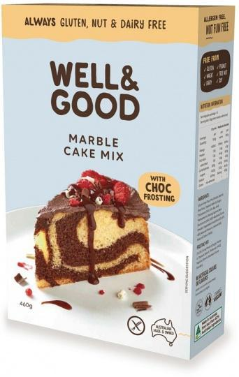 Well And Good Marble Cake Mix & Choc Frosting G/F 450g-Health Tree Australia