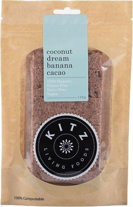 Kitz Living Foods Organic Coconut Dream Banana Cacao G/F 150g