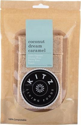 Kitz Living Foods Organic Coconut Dream Caramel G/F 150g-Health Tree Australia