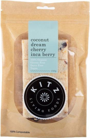 Kitz Living Foods Organic Coconut Dream Cherry Inca Berry G/F 150g