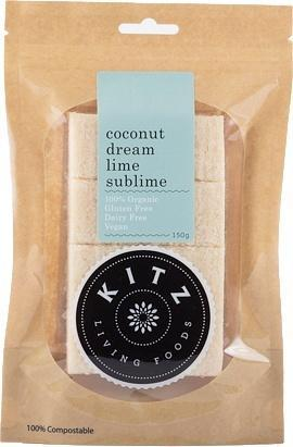 Kitz Living Foods Organic Coconut Dream Lime Sublime G/F 150g-Health Tree Australia