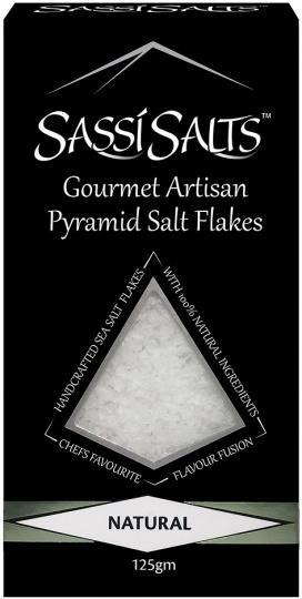 Sassi Salts Gourmet Artisan Pyramid Salts Natural 125g-Health Tree Australia