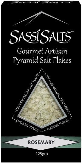 Sassi Salts Gourmet Artisan Pyramid Salts Rosemary 125g-Health Tree Australia