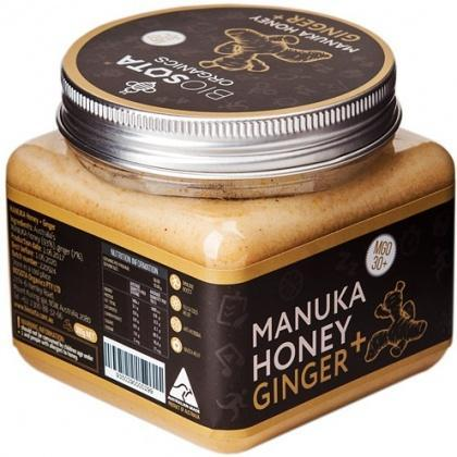 Biosota Organics Manuka Honey Jellybush MGO 30+ Ginger, Lemon 300g-Health Tree Australia