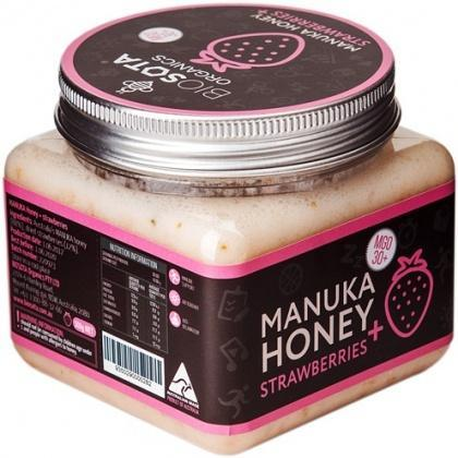 Biosota Organics Manuka Honey Jellybush MGO 30+ Strawberries 300g-Health Tree Australia