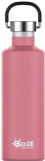 Cheeki Classic Stainless Steel Insulated Dusty Pink Bottle 600ml