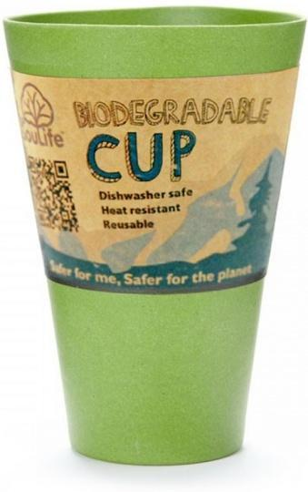 EcoSouLife Bamboo Cup Green 443ml-Health Tree Australia