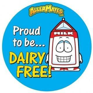 AllerMates Proud to be Dairy Free Stickers-Health Tree Australia