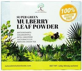 NATURAL EVOLUTION Super Green Mulberry Leaf Powder G/F (60x2g sachets) 120g