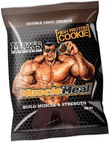 Max's Muscle Meal Cookie Double Choc Crunch 12x90g-Health Tree Australia