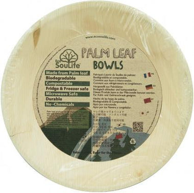 EcoSouLife Palm Leaf (D18 x H3.5cm) Small Bowls Natural 25Pc Set-Health Tree Australia