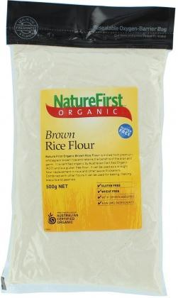 Natures First Organic Flour Brn Rice 500gm-Health Tree Australia
