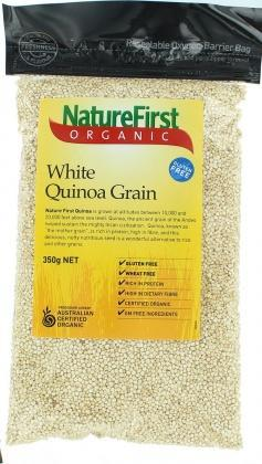 Natures First Organic Quinoa Grain G/F 350gm-Health Tree Australia