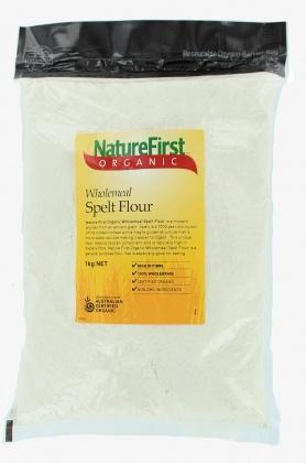 Natures First Organic Wholemeal Spelt Flour 1kg-Health Tree Australia