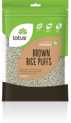 Lotus Organic Puffed Brown Rice 175gm-Health Tree Australia