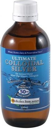 Medicines From Nature Ultimate Colloidal Silver50PPM 200ml-Health Tree Australia