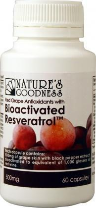 Natures Goodness Bioactivate Resveratrol 500mg/60c-Health Tree Australia