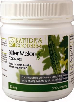 Natures Goodness Bitter Melon Capsules 500mg/365s-Health Tree Australia