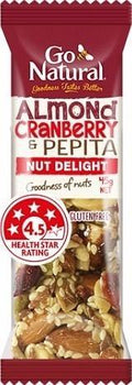 Go Natural Almond, Cranberry & Pepita Bar 16x45g