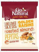 Go Natural Golden Raisins & Seeds Snack Pack 12x45g-Health Tree Australia