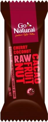 Go Natural Cherry Coconut Raw Cacao Fruit Nut G/F 12x40g-Health Tree Australia