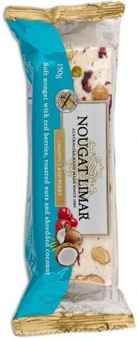 Nougat Limar Coconut Red Berry Soft Nougat 150g-Health Tree Australia