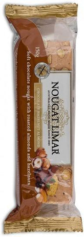 Nougat Limar G/F Hazelnut, Almond & Chocolate 150g-Health Tree Australia