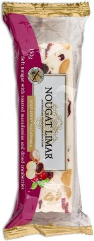 Nougat Limar G/F Wildberry & Macadamia 150g-Health Tree Australia