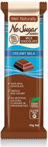 Well,naturally NAS Choc Creamy Milk 16x45gm-Health Tree Australia