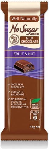 Well,naturally NAS Choc Fruit&Nut 16x45gm-Health Tree Australia