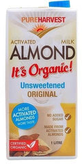 Pure Harvest Organic Unsweetened Almond Milk 1ltr