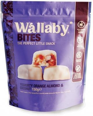 Wallaby Bites Yoghurt Orange Almond & Coconut G/F 150g-Health Tree Australia