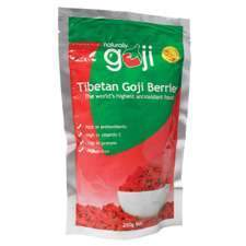 Naturally Goji Organic Tibetan Goji Berries 250gm-Health Tree Australia