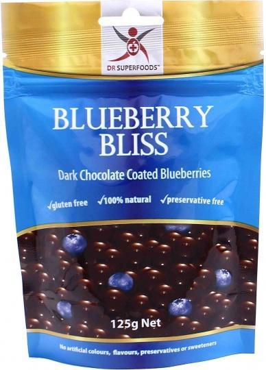 Dr Superfoods Blueberry Bliss Dark Chocolate 125g-Health Tree Australia