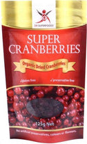 Dr Superfoods Super Organic Dried Cranberries 125g-Health Tree Australia