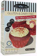 YesYouCan Red Velvet Cupcake Mix G/F 450g-Health Tree Australia
