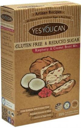 YesYouCan Artisan Raspberry & Coconut Bread Mix G/F 450g-Health Tree Australia