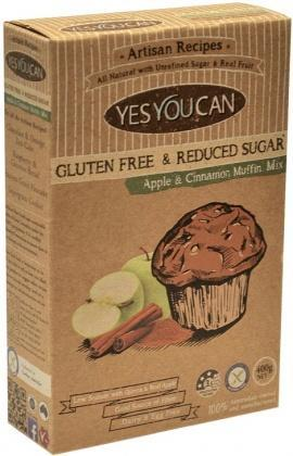 YesYouCan Artisan Apple & Cinnamon Muffin Mix G/F 400g-Health Tree Australia