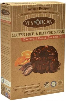 YesYouCan Artisan Chocolate & Orange Zest Cake G/F 450g