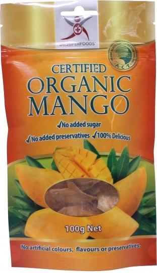 Dr Superfoods Certified Organic Dried Mango 100g-Health Tree Australia