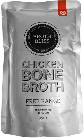 Broth Bliss Bone Broth Free Range Chicken 500ml Pouch-Health Tree Australia