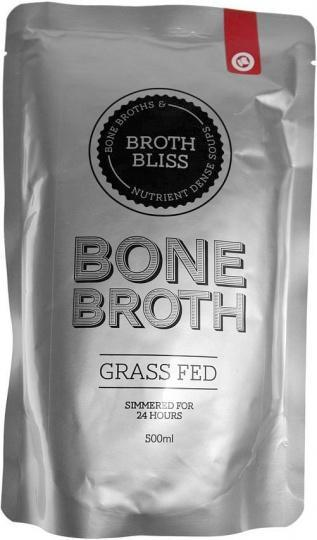 Broth Bliss Bone Broth Grass Feed Beef 500ml Pouch-Health Tree Australia
