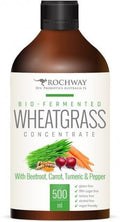 Rochway Bio-Fermented Wheatgrass Concentrate with Beetroot,Carrot,Turmeric & Pepper G/F 500mL