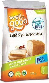 Well And Good Cafe Style Bread Mix G/F 750g-Health Tree Australia