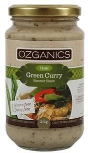 Ozganics Organic Thai Green Curry Sauce G/F 375g-Health Tree Australia