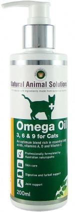 Natural Animal Solutions OmegaOil 3,6&9 Cats 200ml-Health Tree Australia