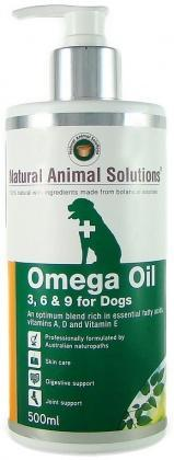 Natural Animal Solutions OmegaOil 3,6&9 Dogs 500ml-Health Tree Australia