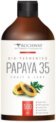Rochway Bio-Fermented Papaya 35 Fruit & Leaf G/F 500ml-Health Tree Australia