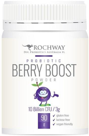 Rochway Organic Probiotic Berry Boost Powder G/F 90g